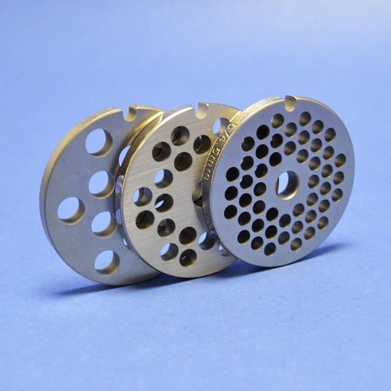 Комплект решеток для мясорубки Bosch (отверстия 8мм, 6мм, 4.5мм)