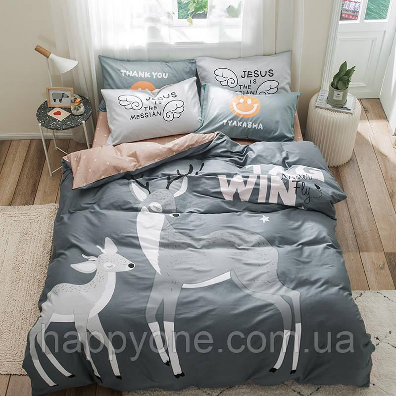 """Комплект постельного белья """"Бэмби"""" (двуспальный-евро)"""
