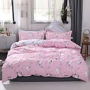 """Комплект постільної білизни """"Кошеня і клубок"""" рожевий (двоспальний євро), фото 2"""