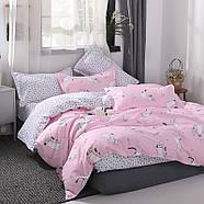 """Комплект постільної білизни """"Кошеня і клубок"""" рожевий (двоспальний євро), фото 3"""
