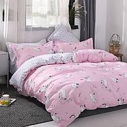 """Комплект постільної білизни """"Кошеня і клубок"""" рожевий (двоспальний євро), фото 4"""