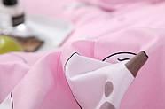 """Комплект постільної білизни """"Кошеня і клубок"""" рожевий (двоспальний євро), фото 5"""
