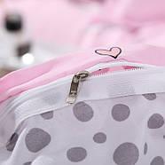 """Комплект постільної білизни """"Кошеня і клубок"""" рожевий (двоспальний євро), фото 7"""