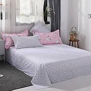 """Комплект постільної білизни """"Кошеня і клубок"""" рожевий (двоспальний євро), фото 8"""