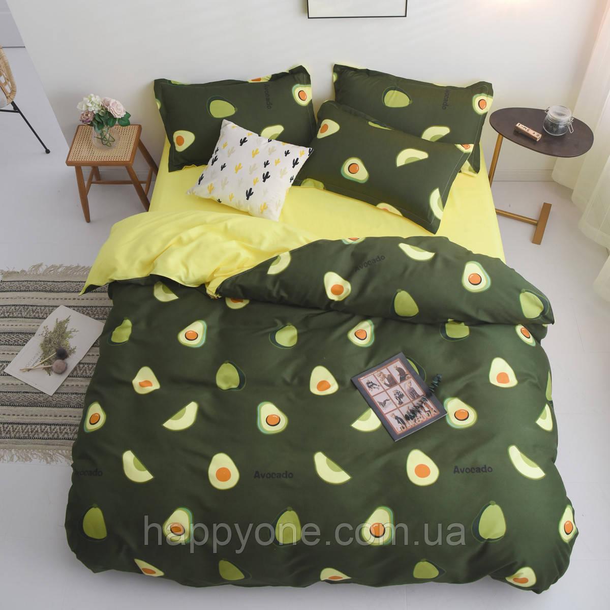 """Комплект постельного белья """"Авокадо"""" (двуспальный-евро)"""