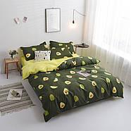 """Комплект постільної білизни """"Авокадо"""" (двоспальний євро), фото 4"""