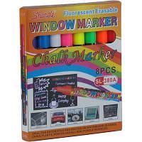 Набор меловых маркеров Shangle SL-380A флуоресцентные 8 цв/уп
