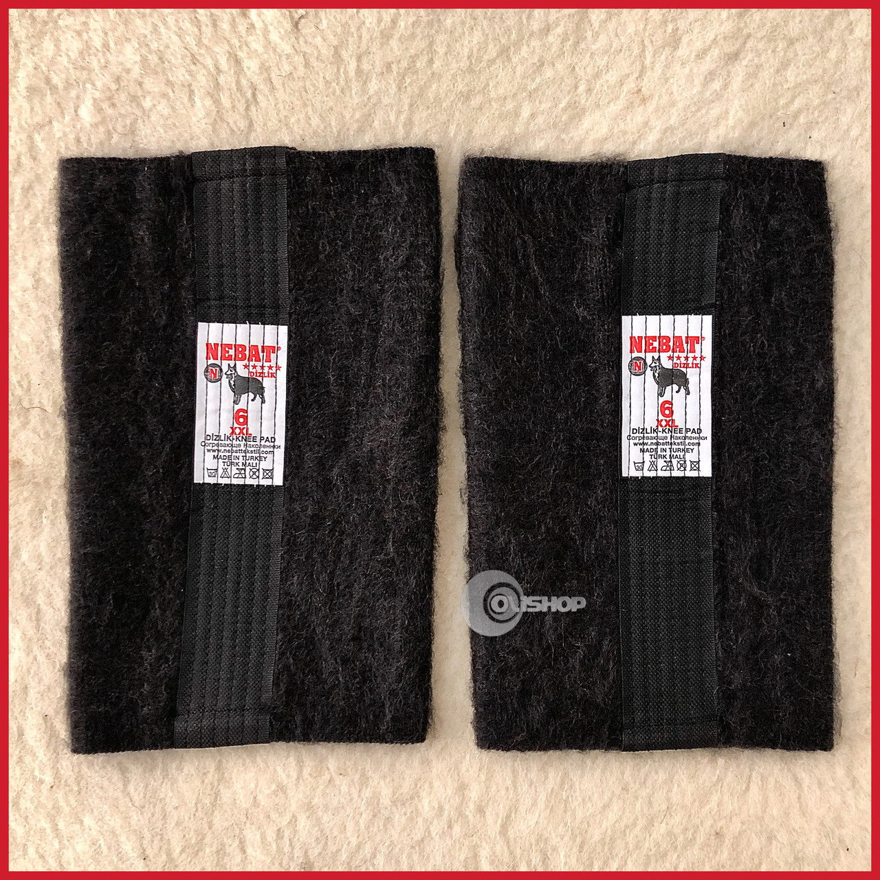 Плотные наколенники / налокотники из натуральной шерсти собаки, Турция