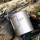 Туристическая кружка, титановый котелок Tiartisan 750 мл. Каструля из титана. Титановая посуда. Titanium., фото 4