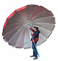 Зонт 3.5мНапыление Клапан 16 спиц РАЗНЫЕ ЦВЕТА Чехол