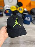 Брендовая кепка JORDAN D9377 черная, фото 5