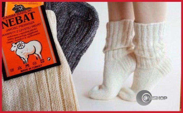 Вовняні шкарпетки (овеча шерсть) Nebat, Розміри в описі