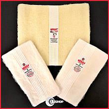Комплект: лечебные пояс и наколенники / налокотники из натуральной овечьей шерсти, Турция, Размеры в