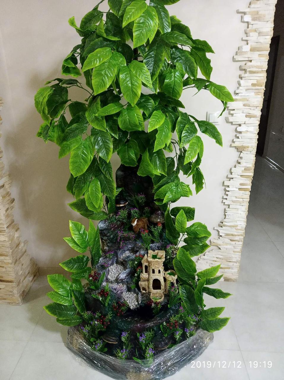 Комнатный Кутовой Фонтан-Водопад Ручной Работы