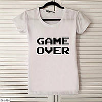 Оригинальная женская футболка с Game Over
