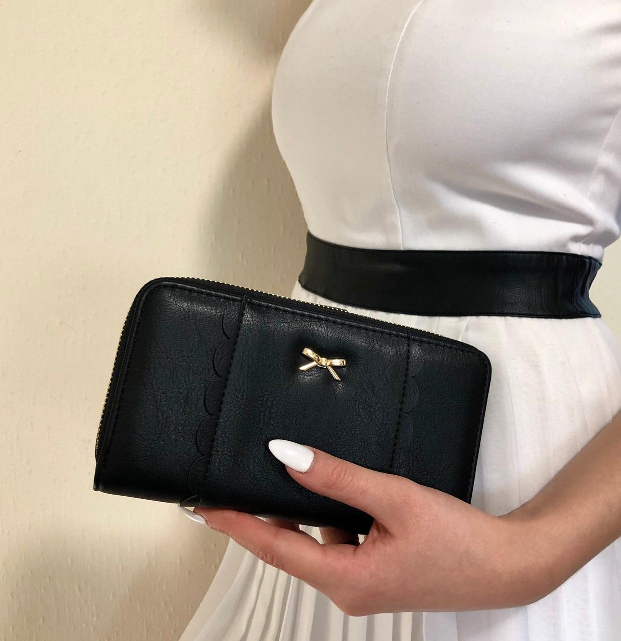 Бархатный женский портмоне 19*10 см