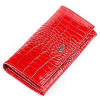 Кошелек женский CANPELLINI 17048 кожаный Красный, Красный