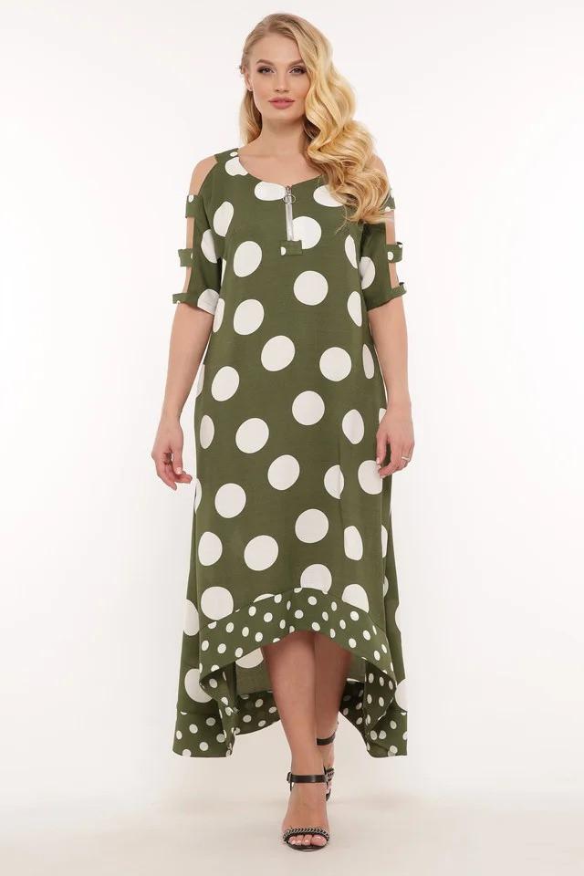 Длинное женское платье Тропикана 2 цвета (48-56)