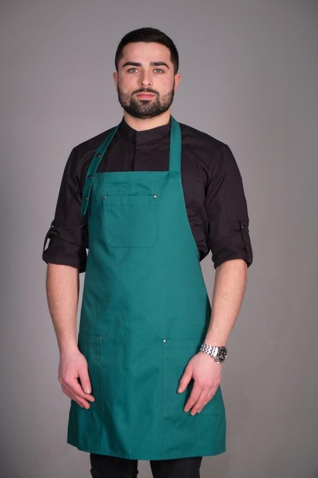Фартук официанта и бармена зеленого цвета