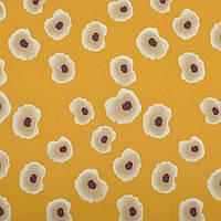 Бавовняна тканина Анемони на гірчичному