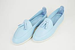 Мокасины Phany 36713 Голубые кожа