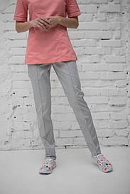 Медицинские брюки женские на резинке (Серые)