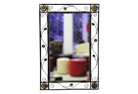 Зеркало Узор кованное Темное золото