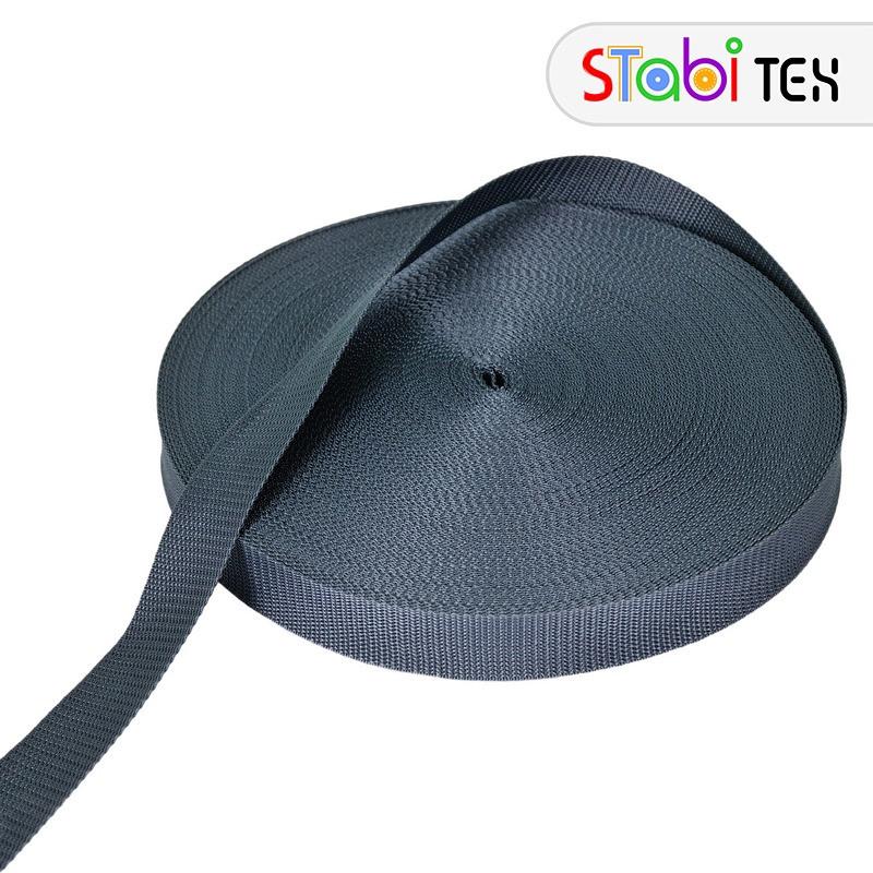 Лента ременная (стропа) 30мм (50м) Серый темный