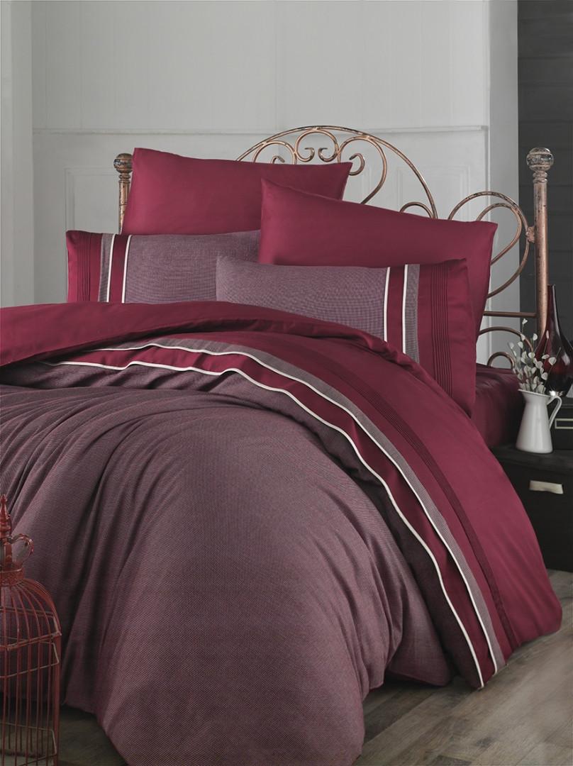 Шикарный Комплект постельного белья евро Moonlight V.I.P Imaj Bordo бренд First Choice