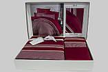 Шикарный Комплект постельного белья евро Moonlight V.I.P Imaj Bordo бренд First Choice, фото 2