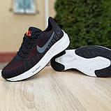 Кроссовки мужские Nike ZOOM Pegasus чёрные с красным, фото 3