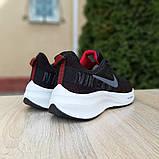 Кроссовки мужские Nike ZOOM Pegasus чёрные с красным, фото 5