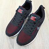 Кроссовки мужские Nike ZOOM Pegasus чёрные с красным, фото 6