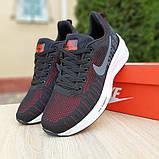 Кроссовки мужские Nike ZOOM Pegasus чёрные с красным, фото 7