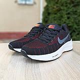 Кроссовки мужские Nike ZOOM Pegasus чёрные с красным, фото 8
