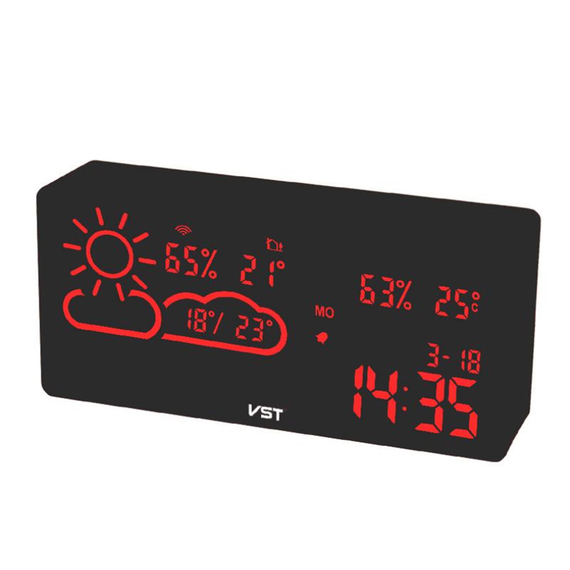 Цифровая метеостанция с часами VST-882