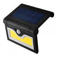 Настенный уличный светильник RIAS SH-090A 34SMD PIR+CDS солнечная батарея (2_008516)