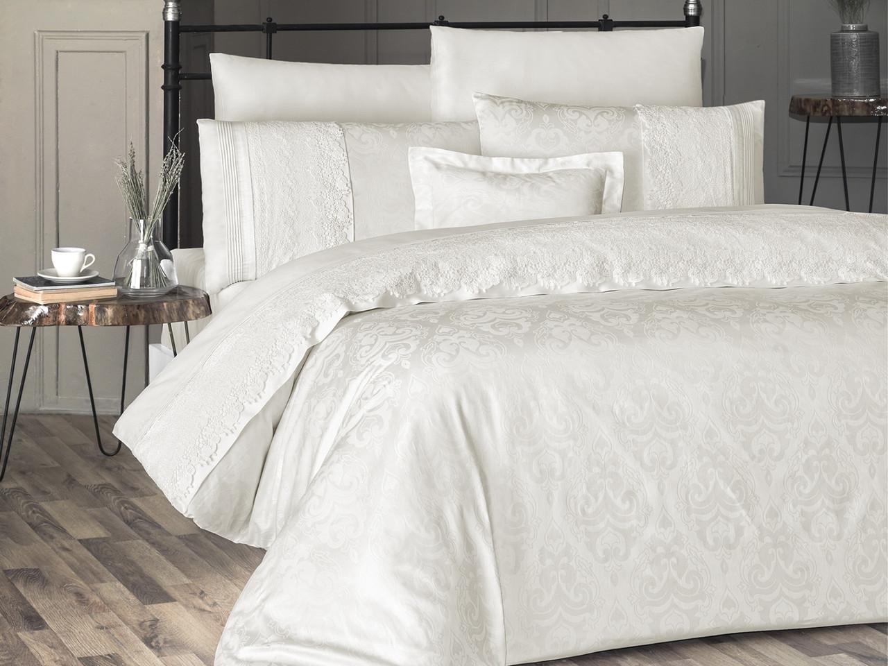 Шикарный Комплект постельного белья евро Moonlight V.I.P July Турция бренд First Choice