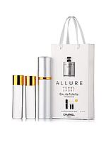 Міні-парфуми Chanel Allure Homme Sport, чоловічий 3х15 мл