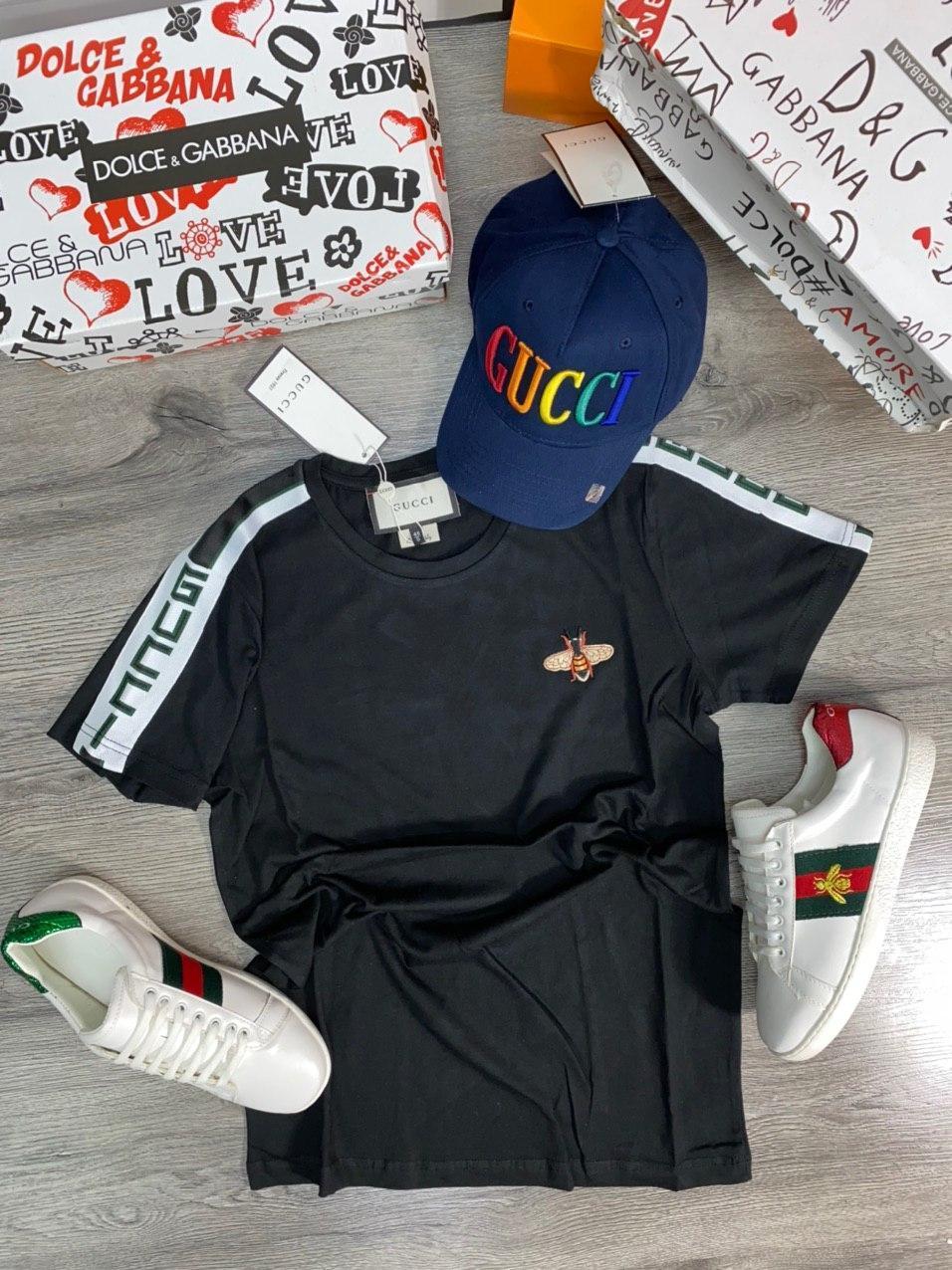 Мужская футболка Gucci D9388 черная