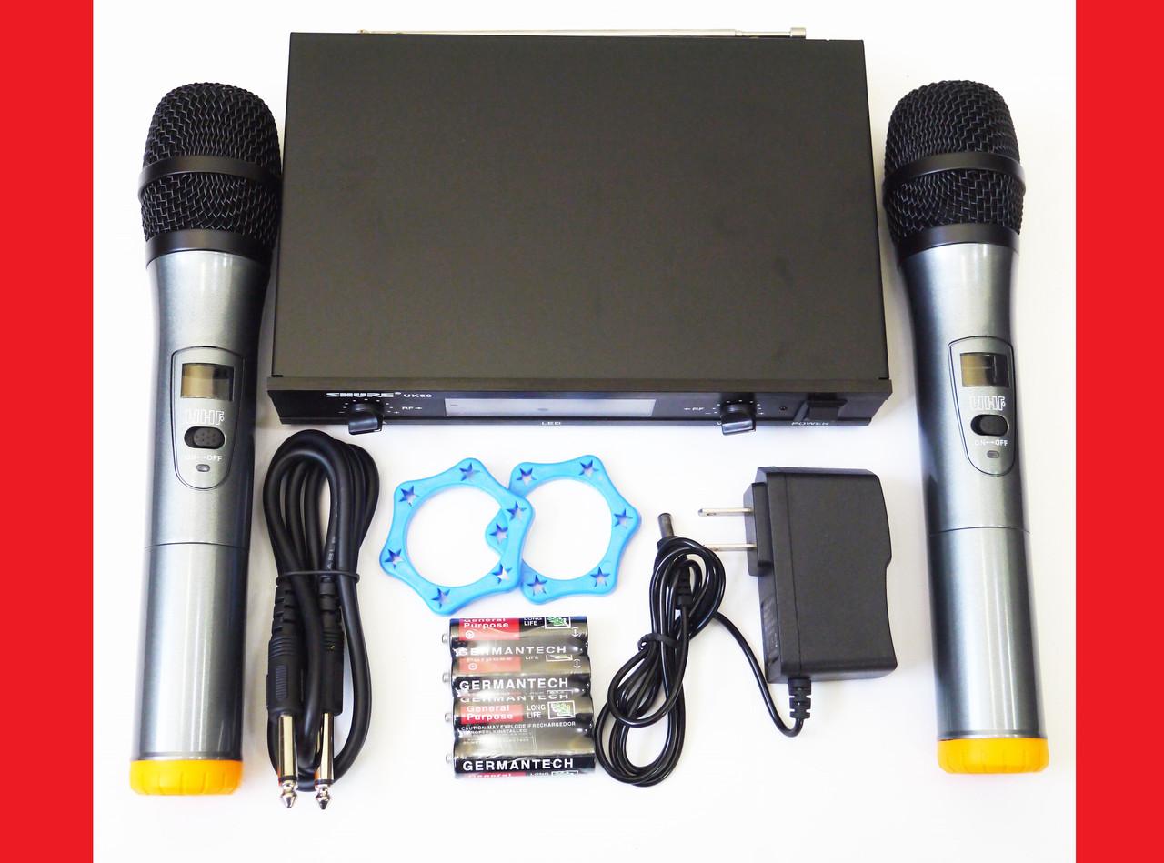 Радиосистема Shure UK80 база 2 радиомикрофона