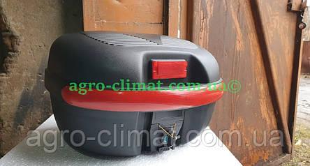 Кофр для мотоцикла багажник черный матовый 26 л на 1 шлем HF-853, фото 2
