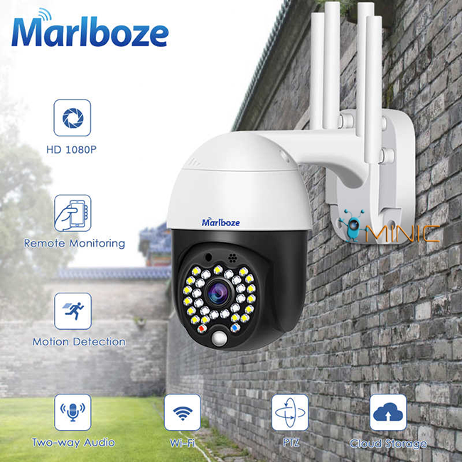 Поворотная IP WI-FI камера Marlboze M-P09 следящая за объектом, зум 4Х, 1080p
