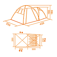 Палатка Кемпинг Together 4 PE, фото 3