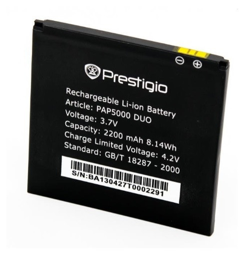 Акумулятор АКБ для Prestigio 5000 (Li-ion 3.7v 2200mAh) Оригінал Китай
