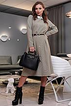 Женский костюм с юбкой 1317.3986 коричневый (S,M,L,XL)