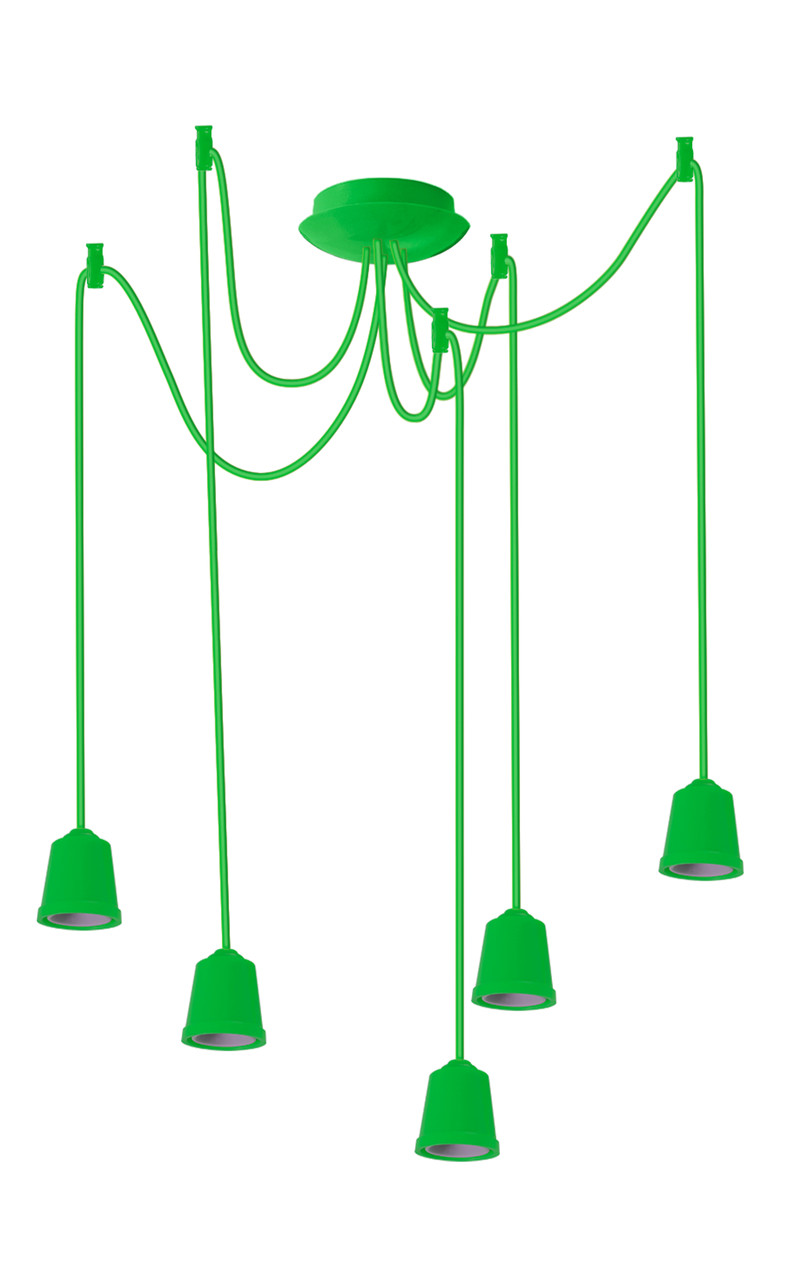 ERKA подвес для подвесного светильника 5х60W, Е27 салатовый 1м