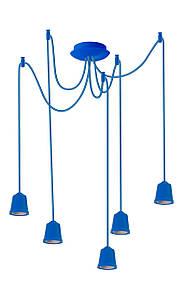 ERKA подвес для подвесного светильника 5х60W, Е27 синий 1м