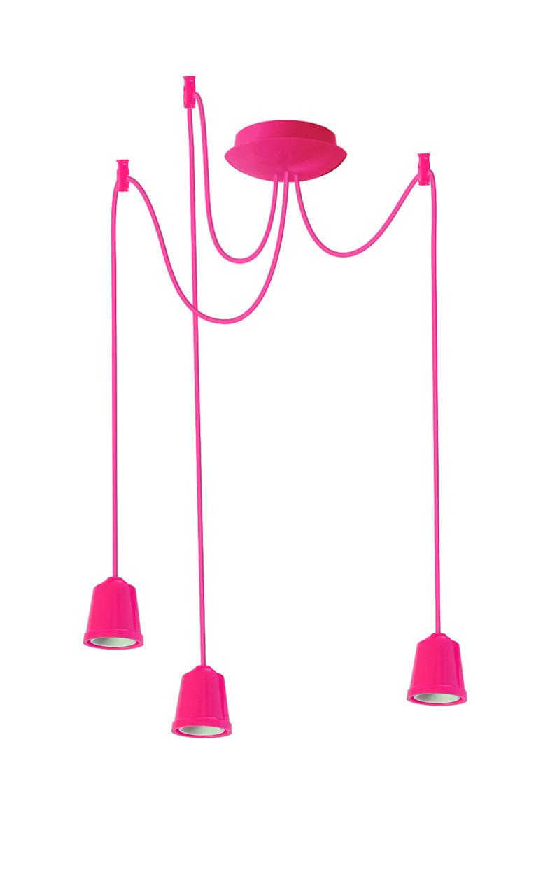 ERKA подвес для подвесного светильника 3х60W, Е27 розовый 1м