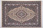 Коврик восточная классика Kashan 612 1,5Х2,25 БЕЖЕВЫЙ прямоугольник, фото 5